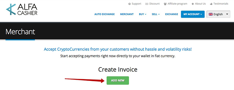 How To Create An Invoice Using The Merchant Function | Alfacashier