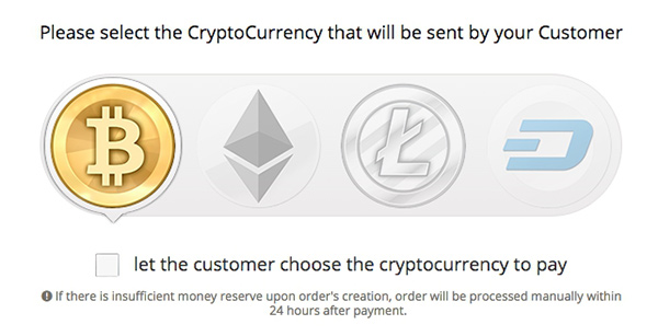 Select the CryptoCurrency