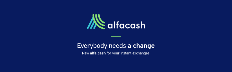 Crypto exchange ALFAcashier rebrands to alfa.cash
