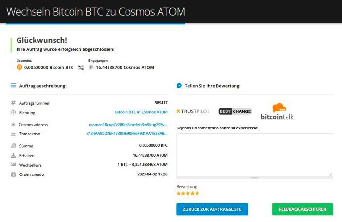 Wie kaufe ich Cosmos (ATOM)