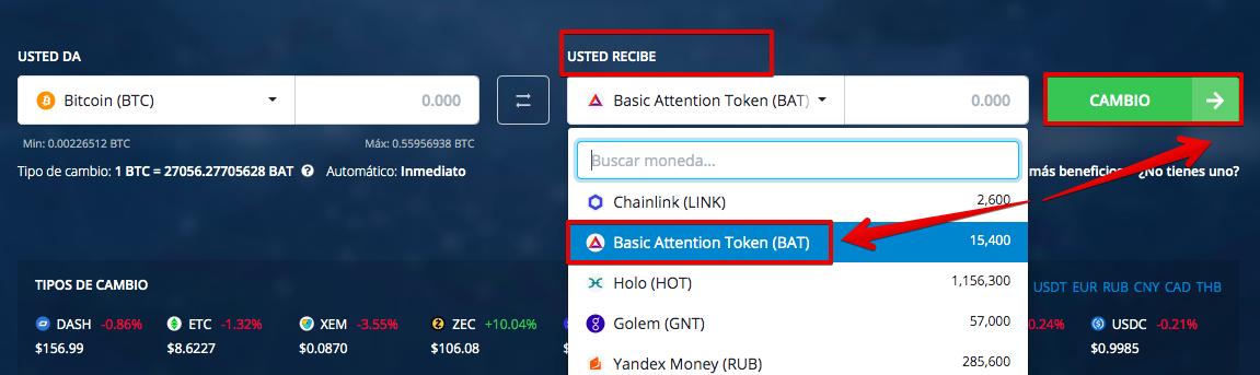 Cómo comprar Basic Attention Token (BAT) pic2