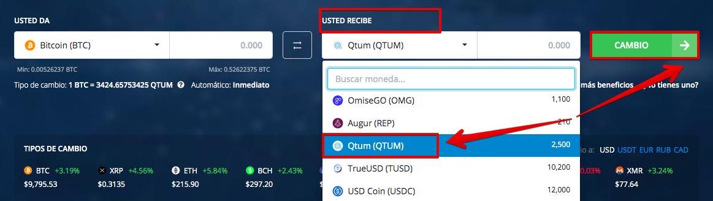 Cómo comprar Qtum (QTUM)