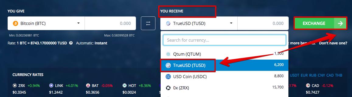 How to buy TrueUSD (TUSD) pic2