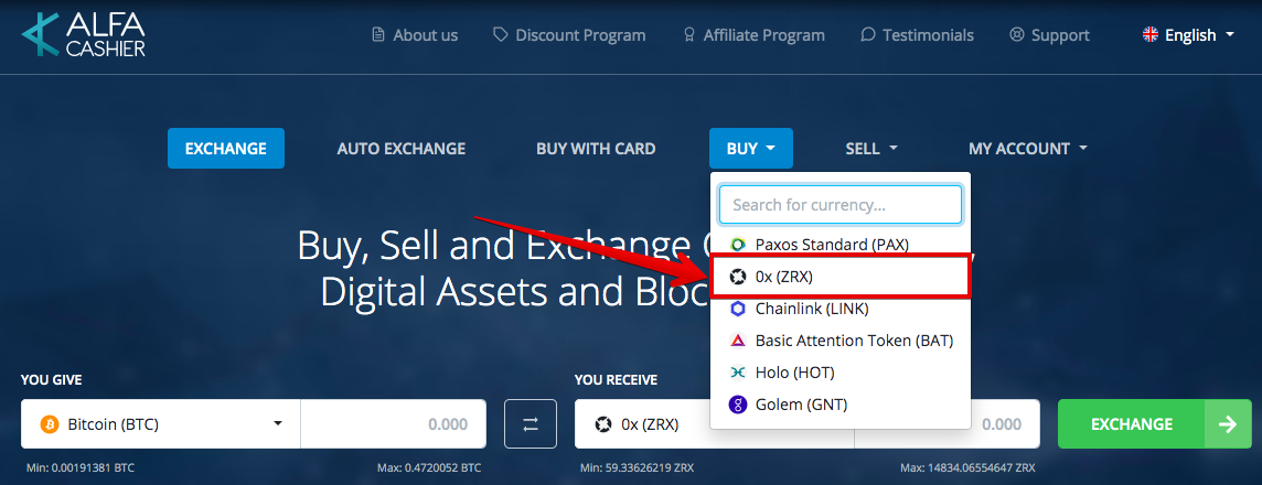 How to buy 0x (ZRX)