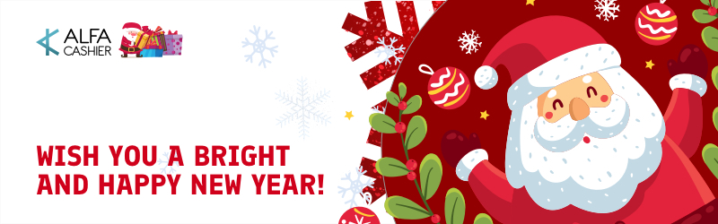 Happy New Year congratulations from ALFAcashier!
