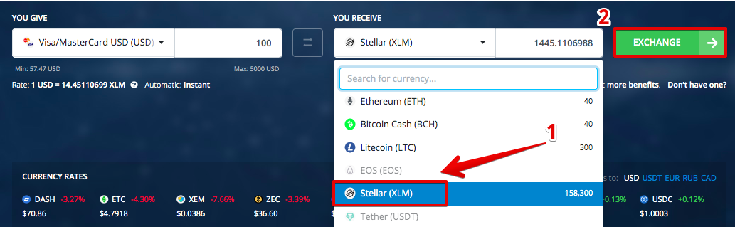 How to buy Stellar (XLM) with Credit Card (Visa/Mastercard)