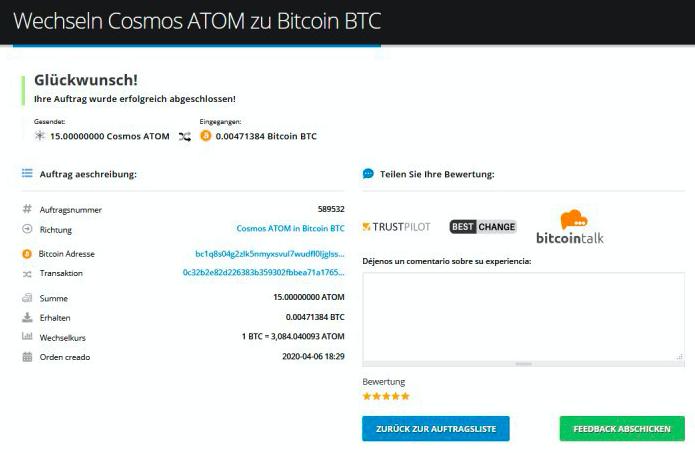 Wie verkauft man Cosmos (ATOM)