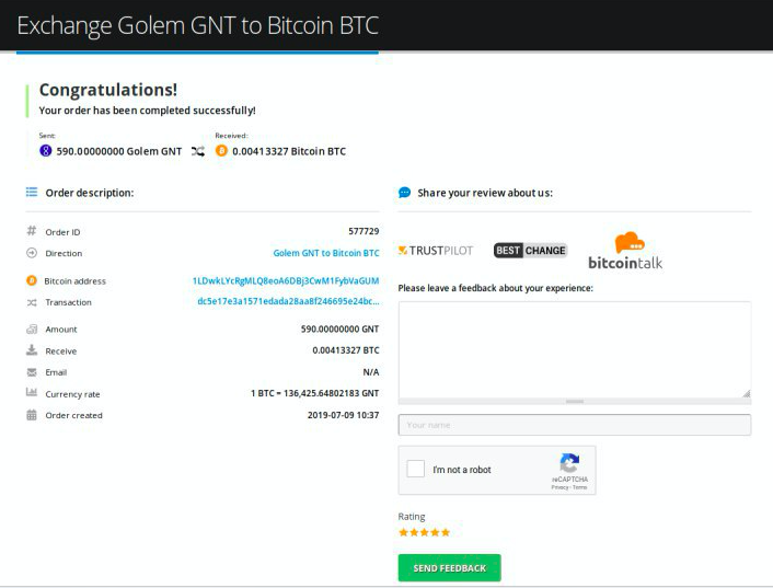 How to sell Golem (GNT)
