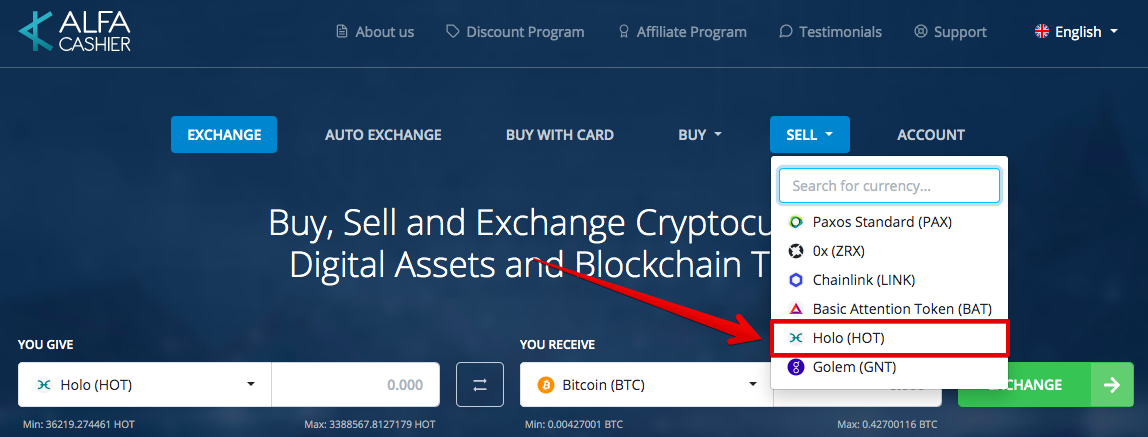 How to sell Holo (HOT)