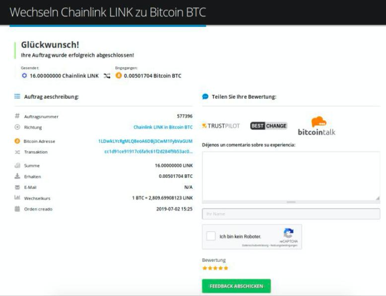 Wie verkauft man Chainlink (LINK)