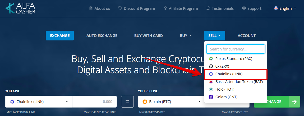 How to sell Chainlink (LINK)
