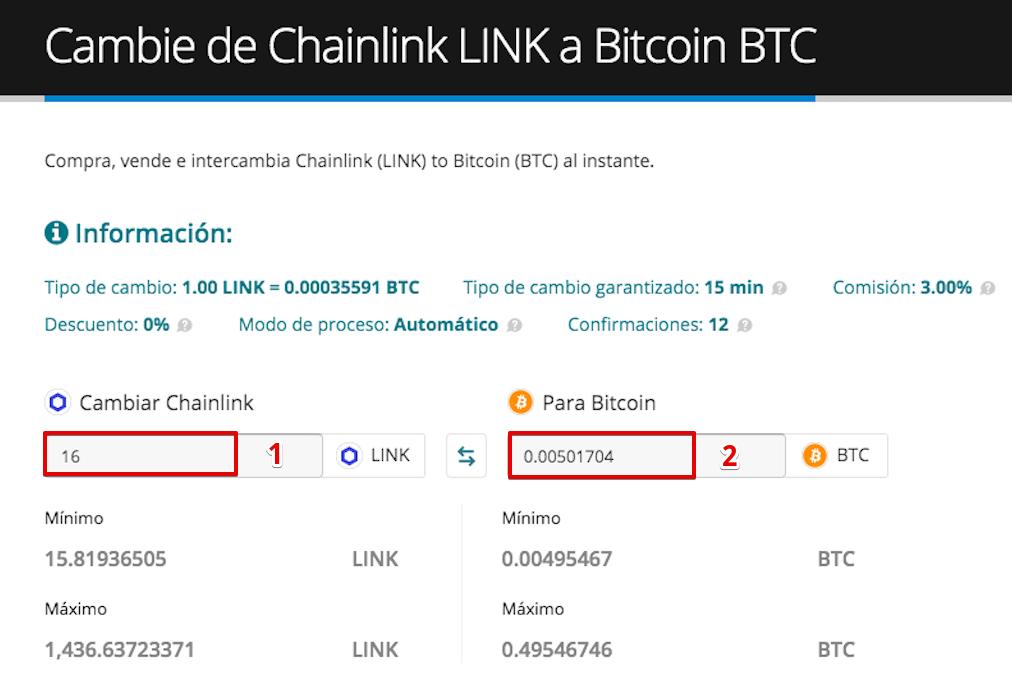 Cómo vender su Chainlink (LINK)