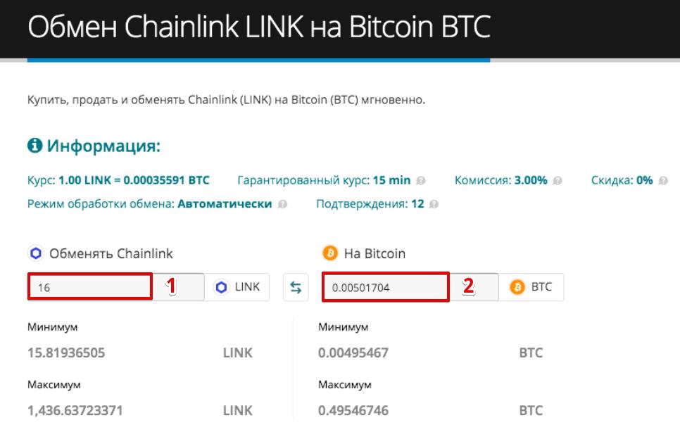 Как продать Chainlink (LINK)