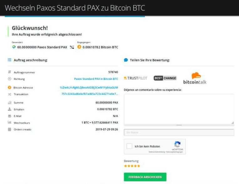 Wie verkauft man Paxos Standard (PAX)
