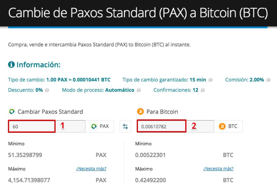 Cómo vender su Paxos Standard (PAX)