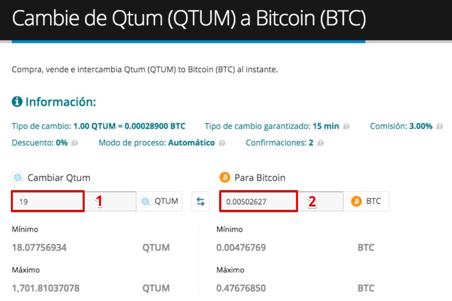 Cómo vender su Qtum (QTUM)