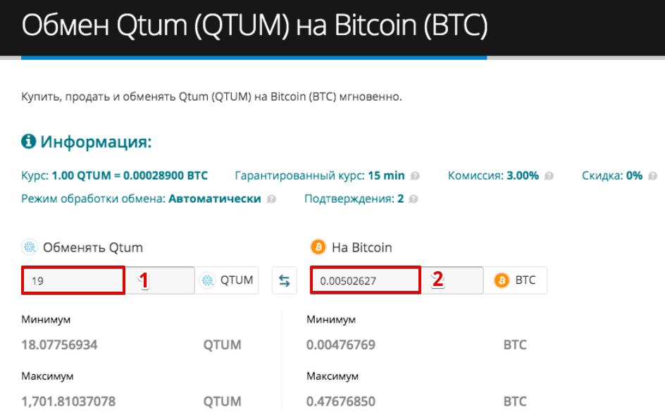 Как продать Qtum (QTUM)