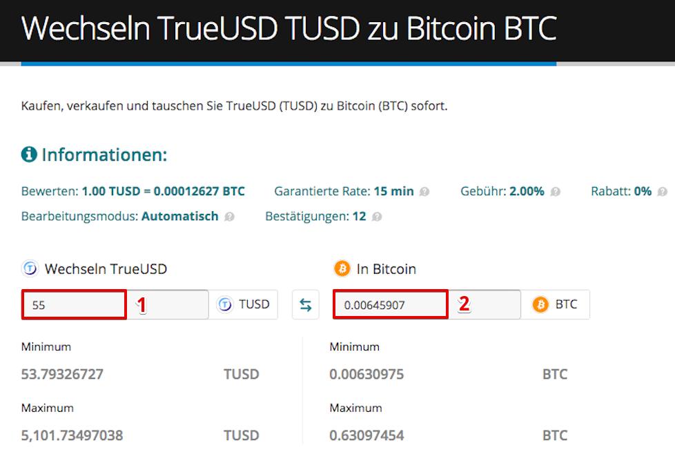 Wie verkauft man TrueUSD (TUSD) pic4