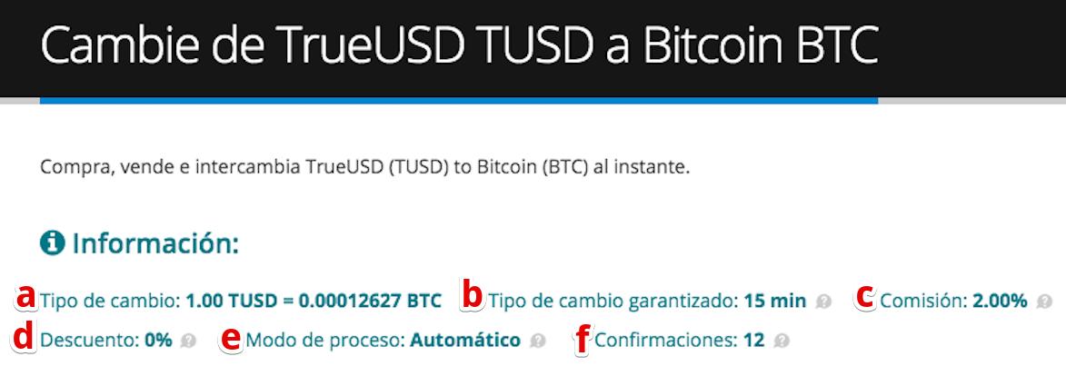 Cómo vender su TrueUSD (TUSD) pic3
