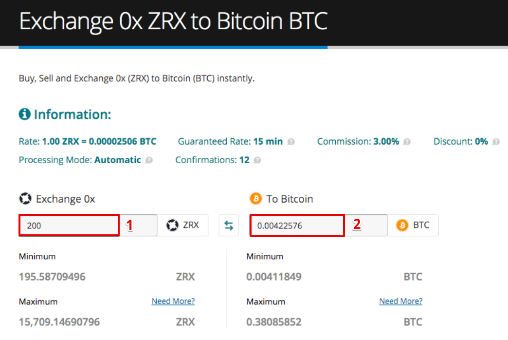 How to sell 0x (ZRX)