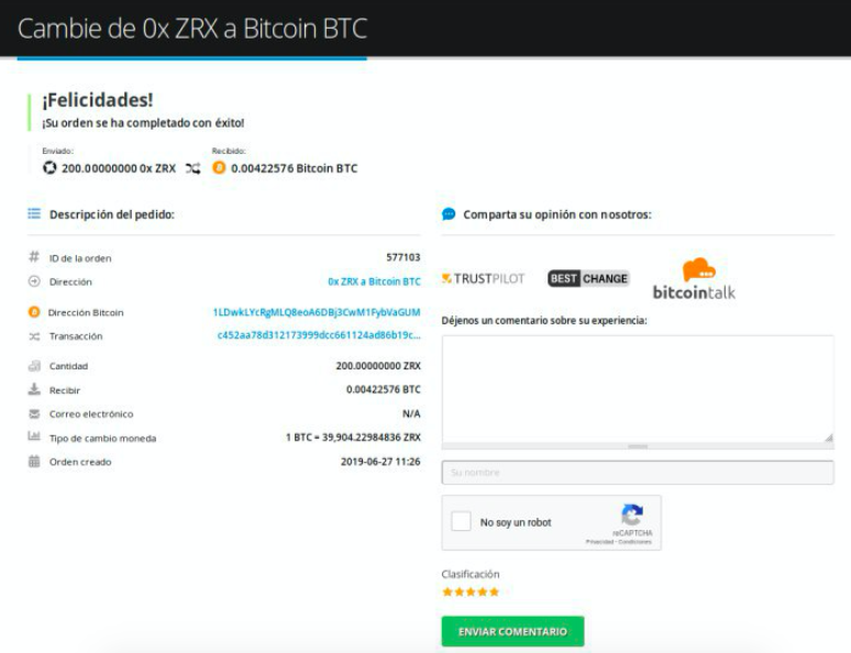 Cómo vender su 0x (ZRX)