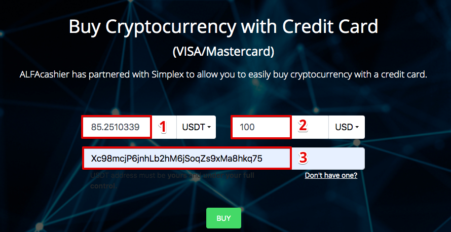 How to buy Tether ERC-20 (USDT) with Credit Card (Visa/Mastercard)