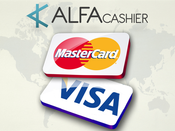 Now you can exchange any cryptoCurrency or eCurrency to Visa/MasterCard (USD) via ALFAcashier